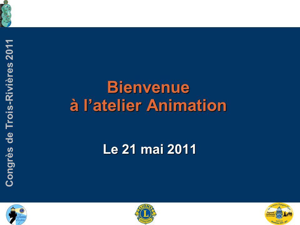 Congrès de Trois-Rivières 2011 Atelier des Animateurs 2010 Présentation préparé par le Lion Paul Demers 2009 L'amuseur Jeux, quiz, concours, test Par écrit, dessin, vocal, physique, danse, audio, visuel, à l'aveugle, musical… audio, visuel, à l'aveugle, musical… Les genres d'animation 20%