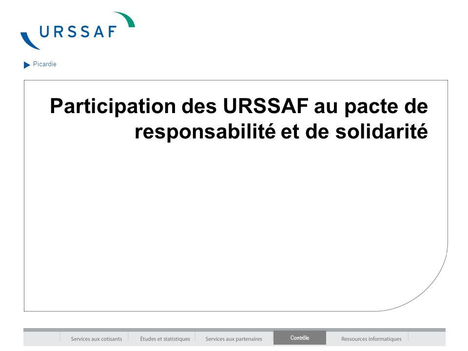 Contrôle Picardie Participation des URSSAF au pacte de responsabilité et de solidarité