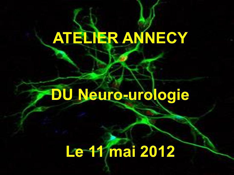 ATELIER ANNECY DU Neuro-urologie Le 11 mai 2012