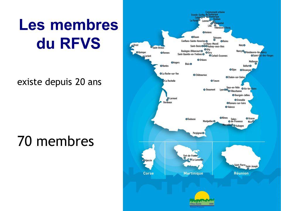 5 Les membres du RFVS existe depuis 20 ans 70 membres