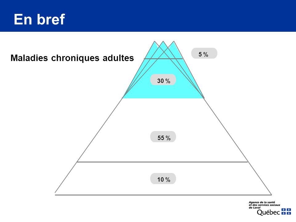 Maladies chroniques adultes En bref 55 % 20 % 5 % 30 % 10 %