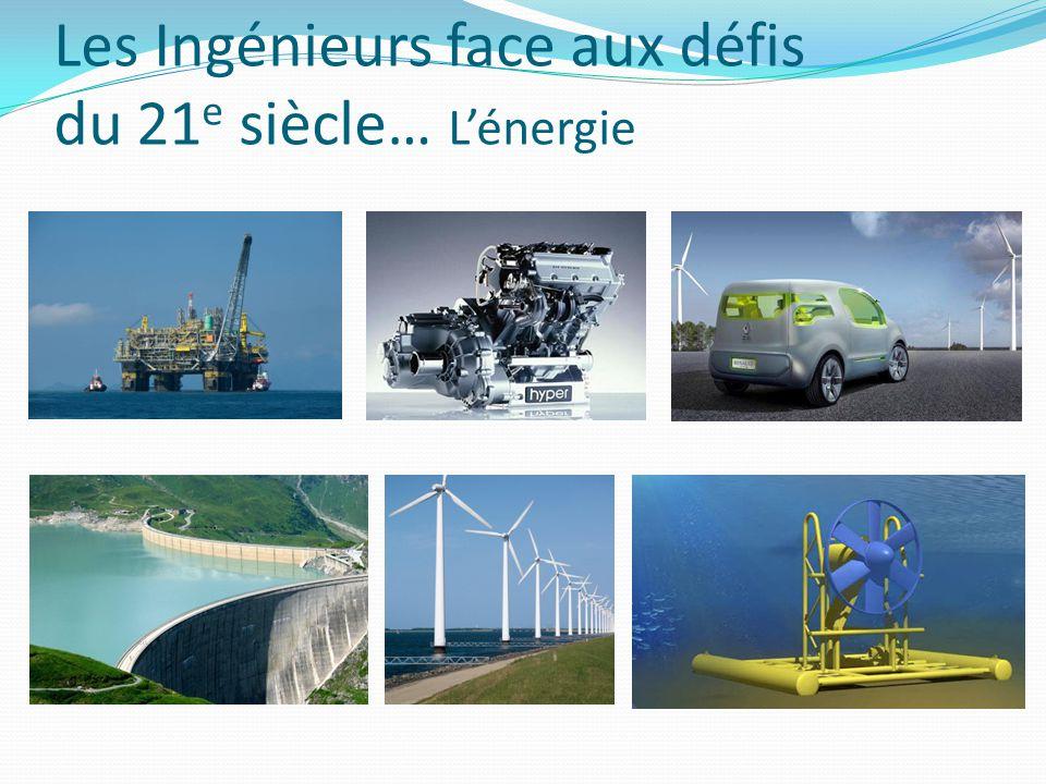 Les Ingénieurs face aux défis du 21 e siècle… L'énergie