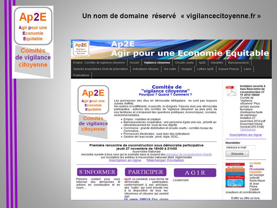 Contact Ap2E Caldier Jean Pierre - Sylvie Mayer 06 85 71 79 40 ap2e@orange.fr ap2e@orange.fr Vigilancecitoyenne.fr Comités de « vigilance citoyenne » « Pourquoi .