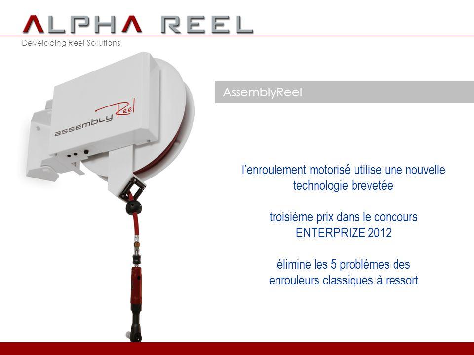 Developing Reel Solutions AssemblyReel après les enrouleurs manuels et à ressort, l'AssemblyReel représente la troisième génération d'enrouleurs de tu