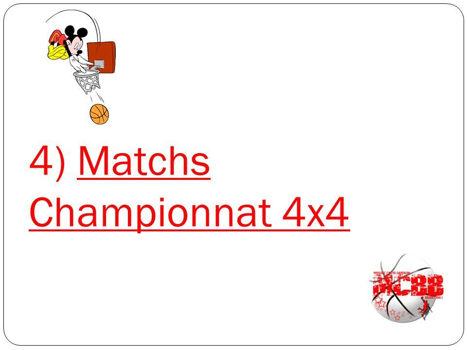 4) Matchs Championnat 4x4