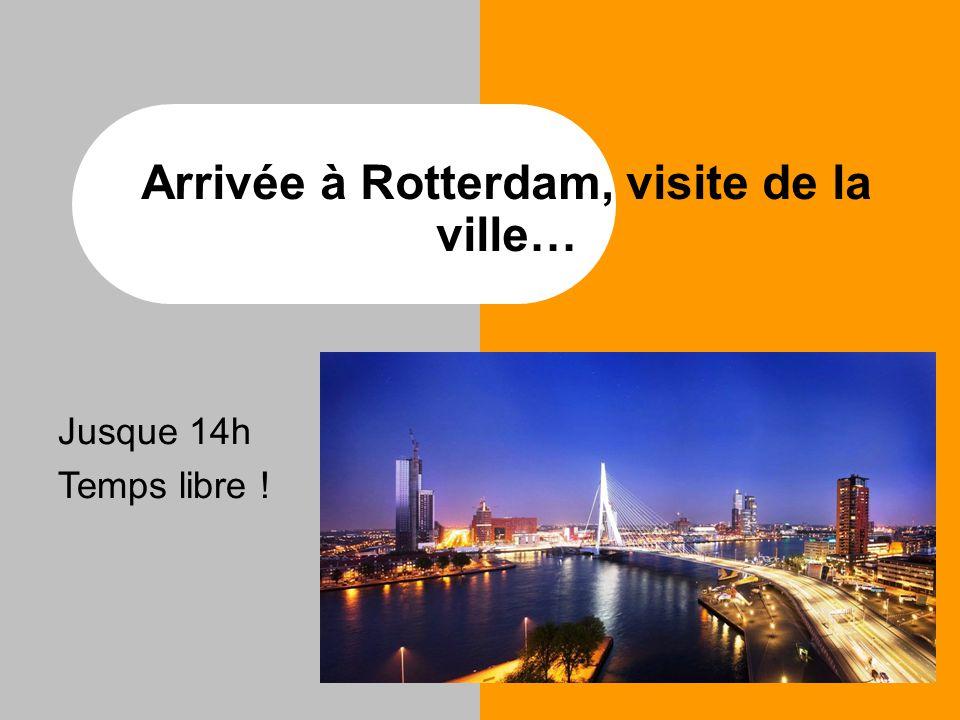 Arrivée à Rotterdam, visite de la ville… Jusque 14h Temps libre !