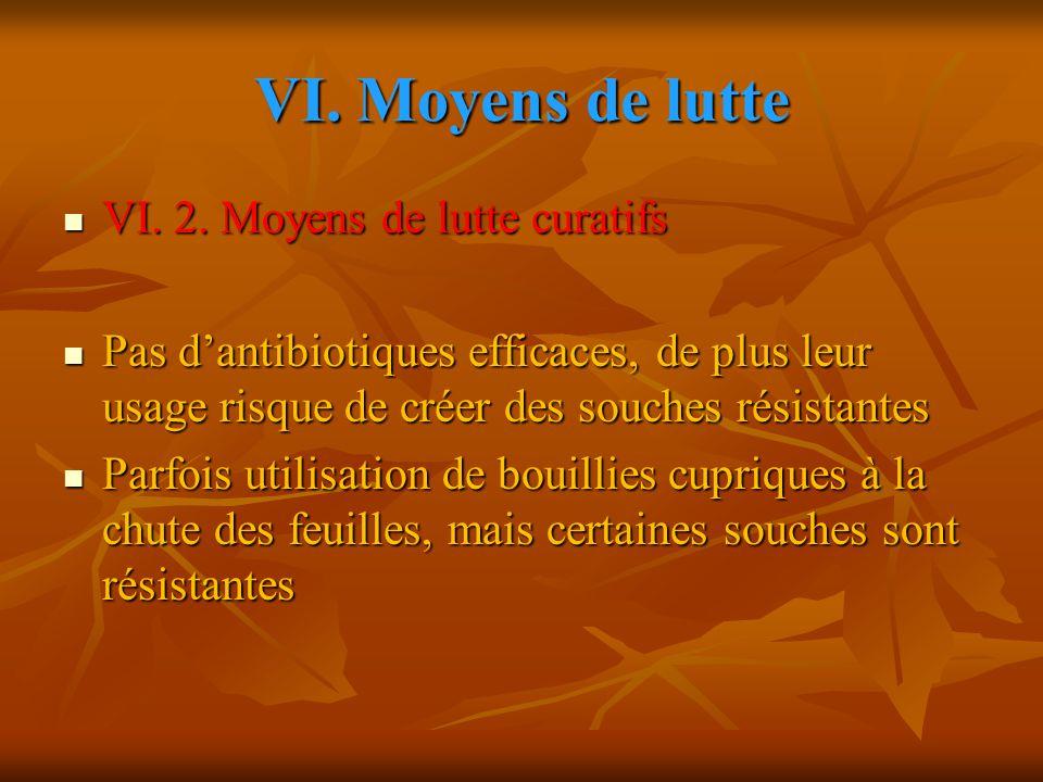 VI.Moyens de lutte VI. 2. Moyens de lutte curatifs VI.