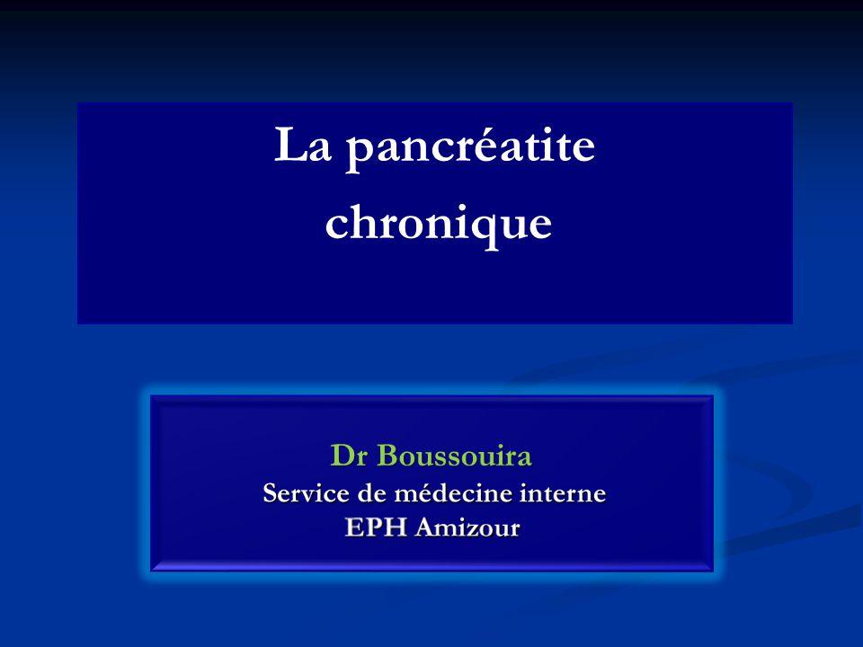 La pancréatite chronique
