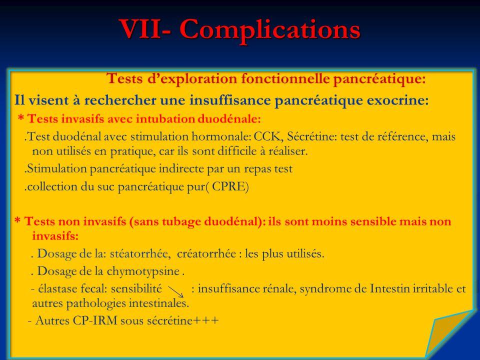VII- Complications