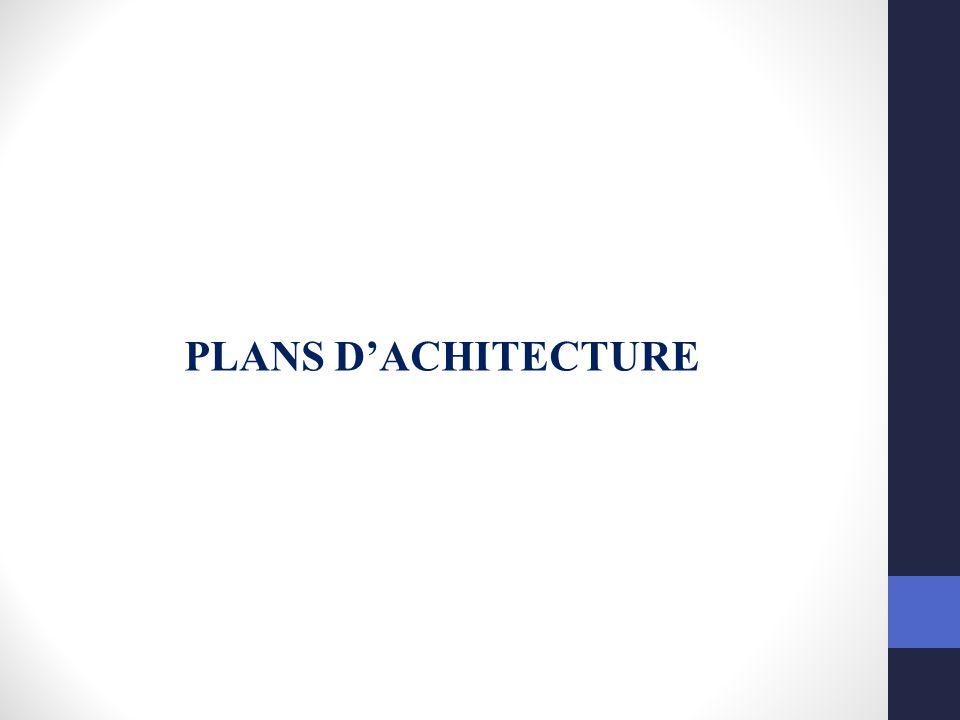 PLANS D'ACHITECTURE