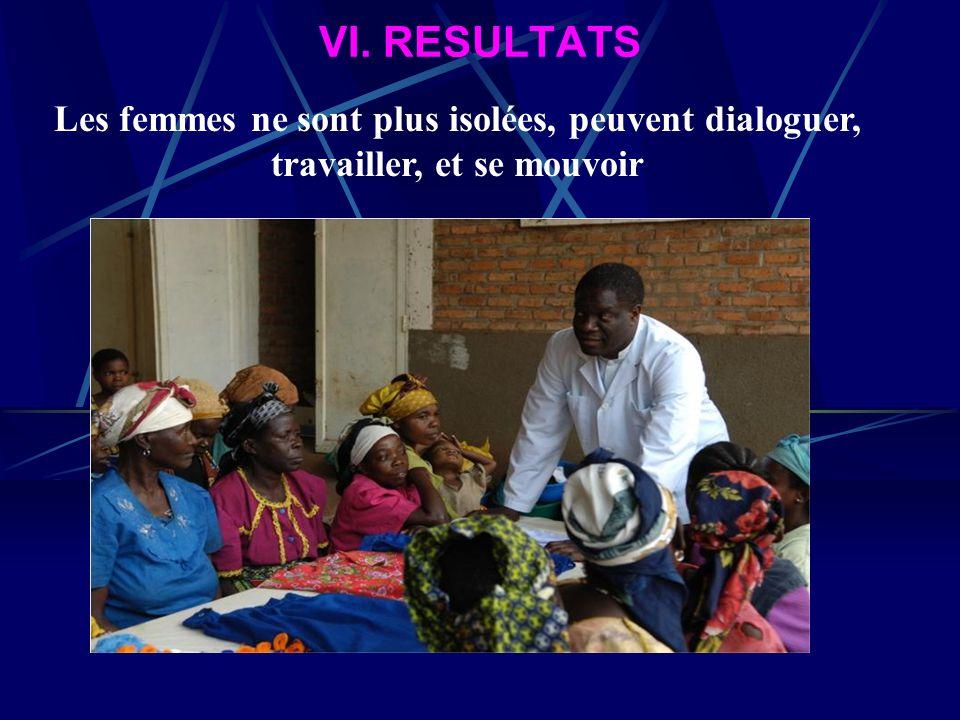 VI. RESULTATS Les femmes sont détraumatisées