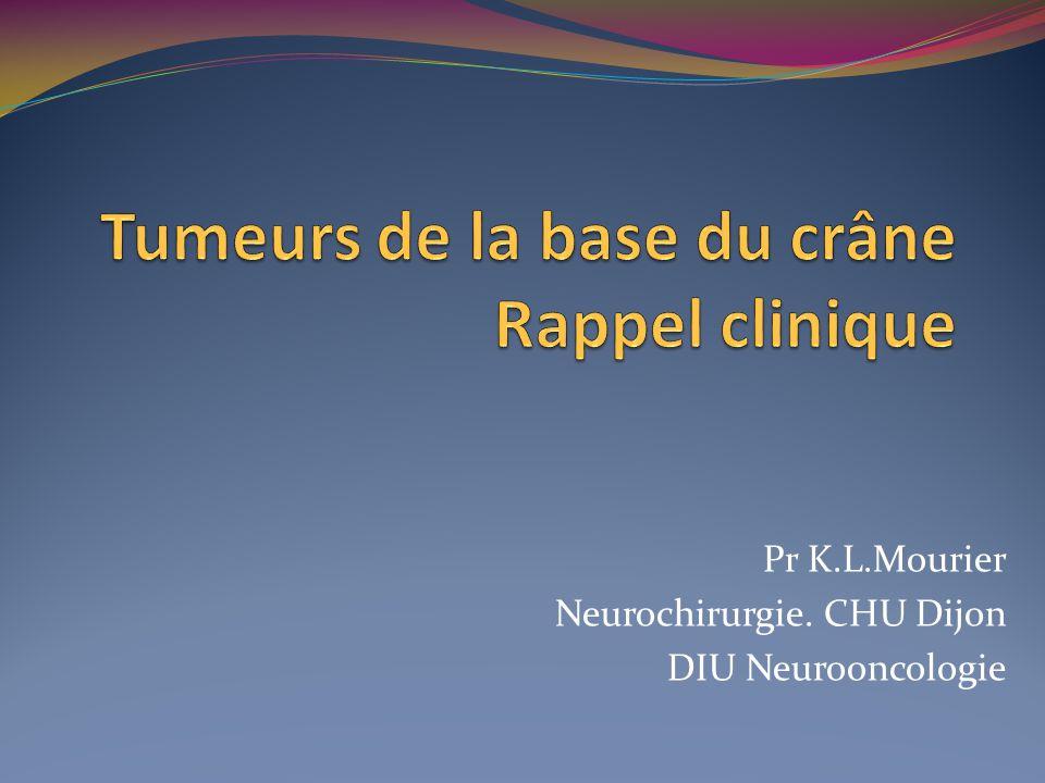 Pr K.L.Mourier Neurochirurgie. CHU Dijon DIU Neurooncologie