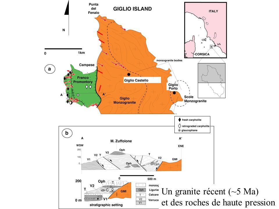 Un granite récent (~5 Ma) et des roches de haute pression