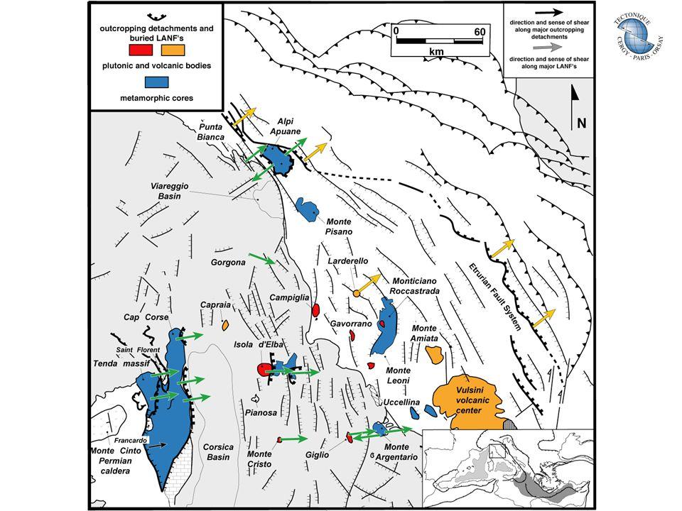 Bassin du Canal de Corse Carte bathymétrique isobathes 100 m Compilation BRGM Données sources: IFREMER SHOM Université Paris VI Orientation N-S ~ 190 km x 30 km Profondeur 200-800m P.