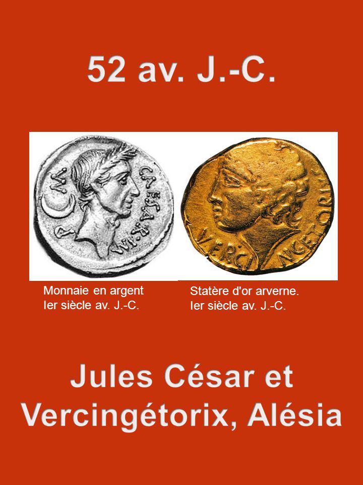 Monnaie en argent Ier siècle av. J.-C. Statère d'or arverne. Ier siècle av. J.-C.