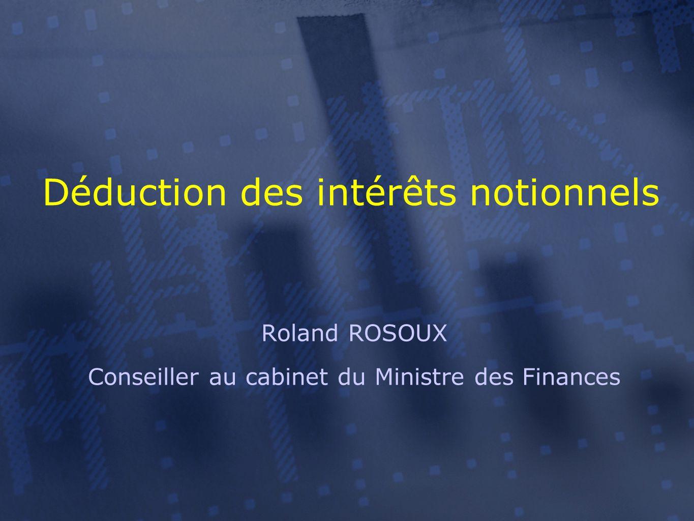 Roland ROSOUX Conseiller au cabinet du Ministre des Finances