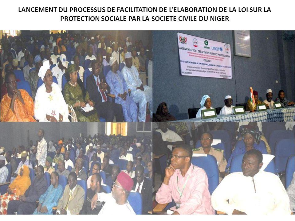 LANCEMENT DU PROCESSUS DE FACILITATION DE L'ELABORATION DE LA LOI SUR LA PROTECTION SOCIALE PAR LA SOCIETE CIVILE DU NIGER