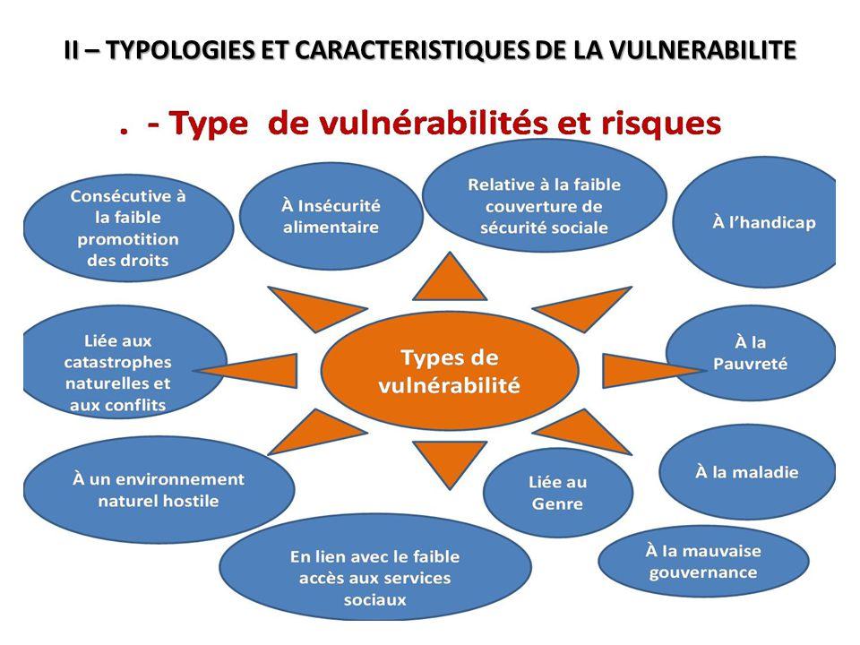 II – TYPOLOGIES ET CARACTERISTIQUES DE LA VULNERABILITE