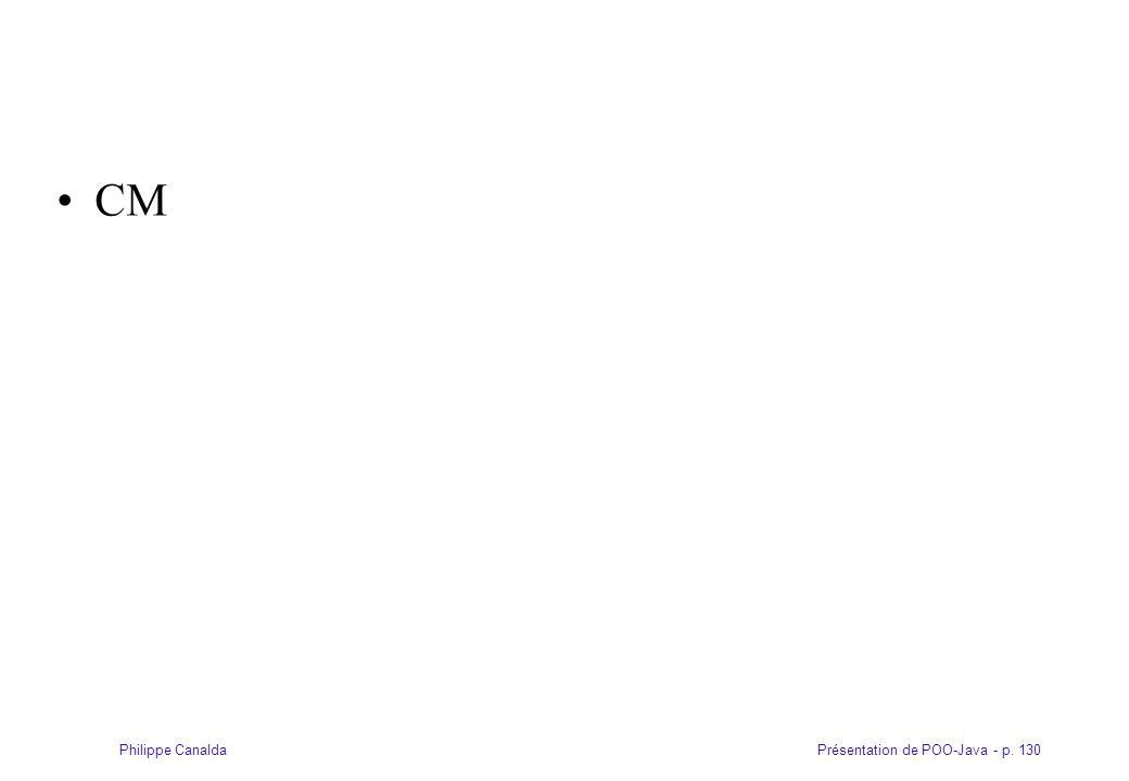 Présentation de POO-Java - p. 130Philippe Canalda CM