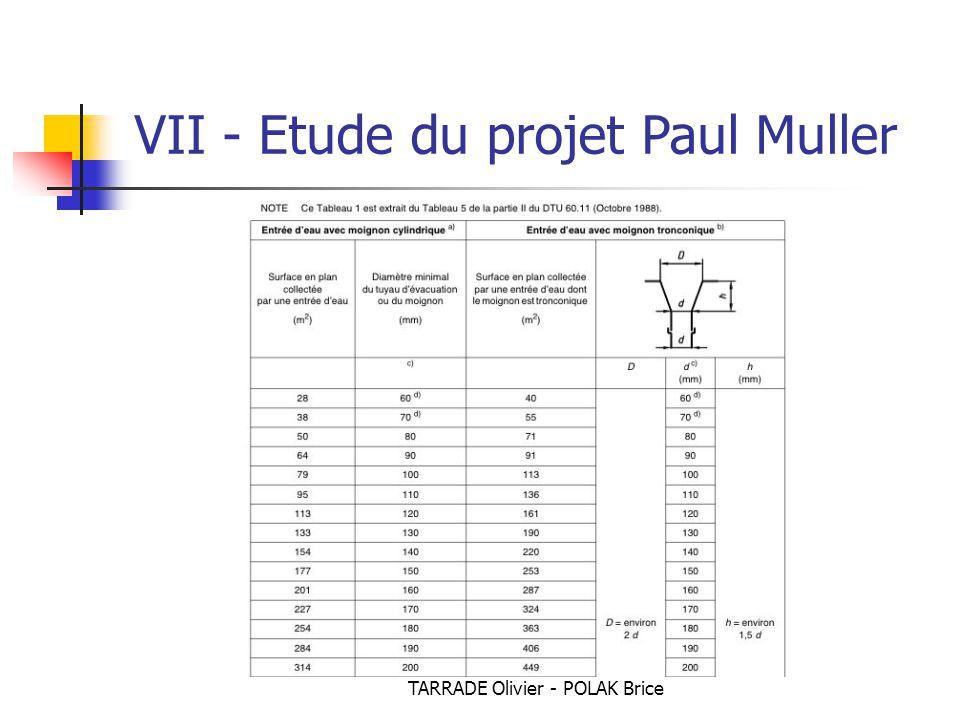 TARRADE Olivier - POLAK Brice VII - Etude du projet Paul Muller