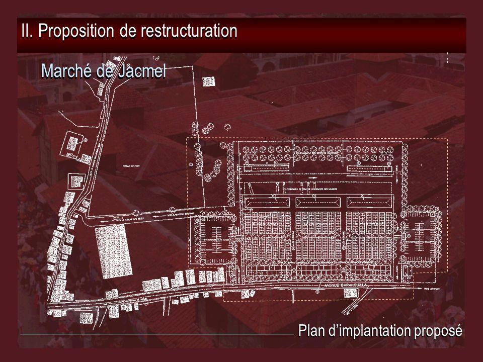 II. Proposition de restructuration Marché de Jacmel Plan d'implantation proposé