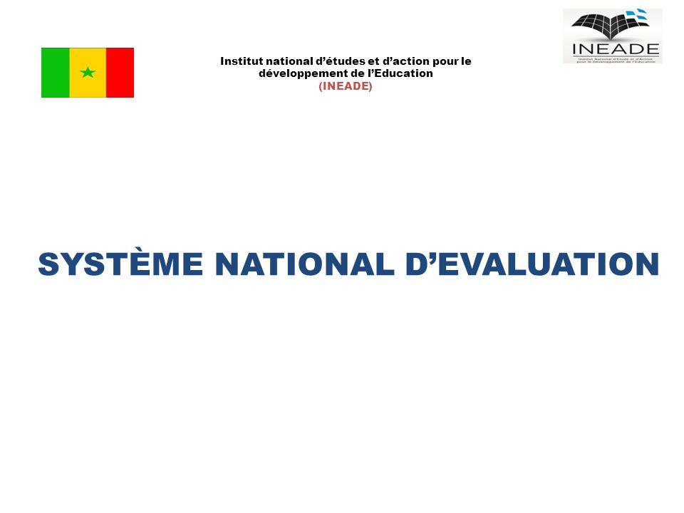 SYSTÈME NATIONAL D'EVALUATION Institut national d'études et d'action pour le développement de l'Education (INEADE)