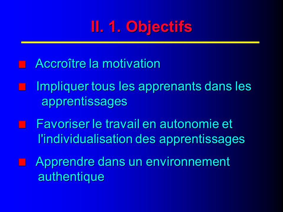 II. OBJECTIFS