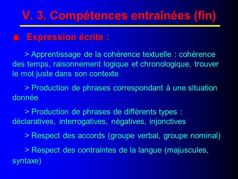 """V. 2. Compétences entraînées (suite) Expression orale : """"Rollenspiele"""" Expression orale : """"Rollenspiele"""" > Dramatiser la scène après reconstitution >"""