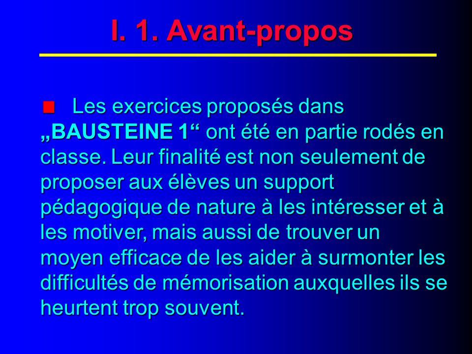 I. AVANT-PROPOS
