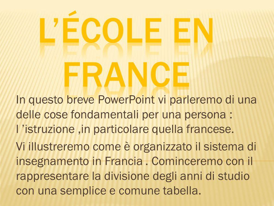 In questo breve PowerPoint vi parleremo di una delle cose fondamentali per una persona : l 'istruzione,in particolare quella francese.
