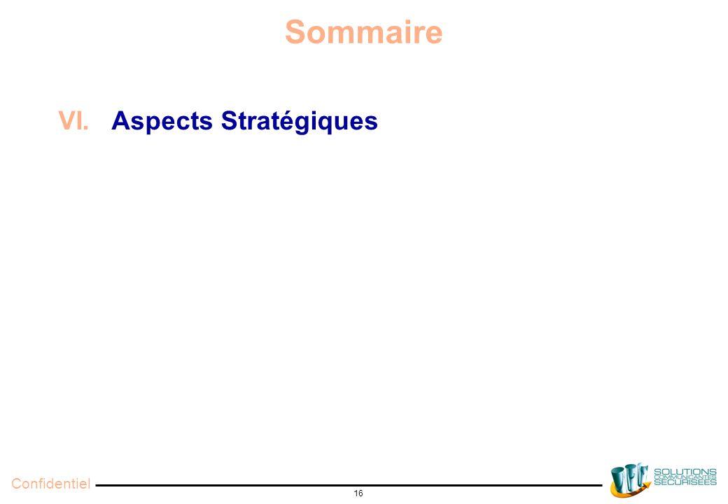 Confidentiel 16 Sommaire VI. Aspects Stratégiques