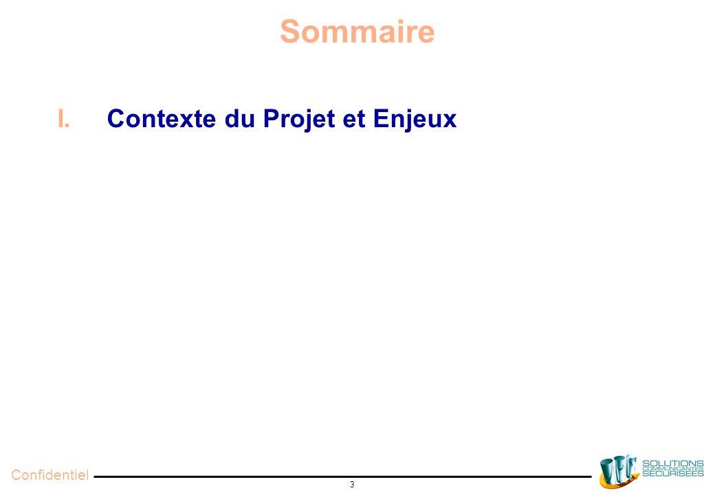 Confidentiel 3 Sommaire I. Contexte du Projet et Enjeux