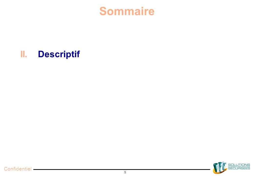 Confidentiel 5 Sommaire II. Descriptif