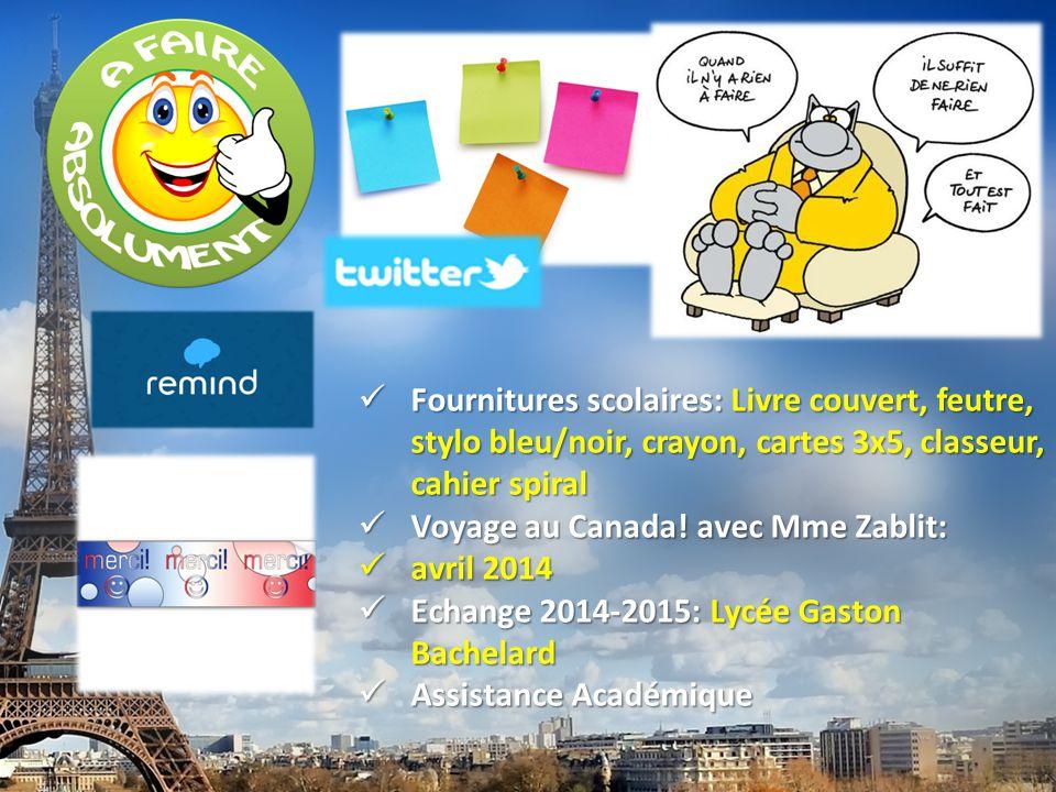 français 1 le 16 septembre 2014 ActivitéCahier I.Alphabet, Accents, and Spelling II.