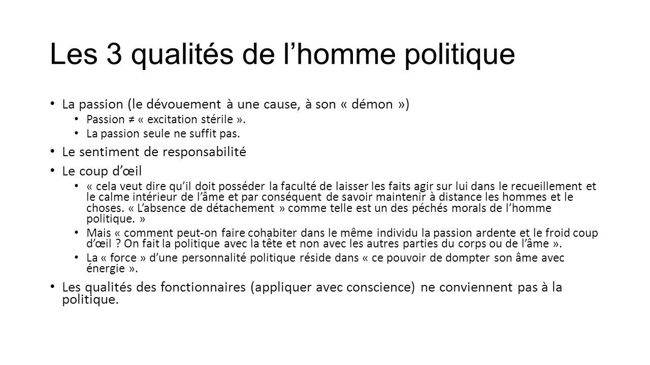 3) L'éthique politique