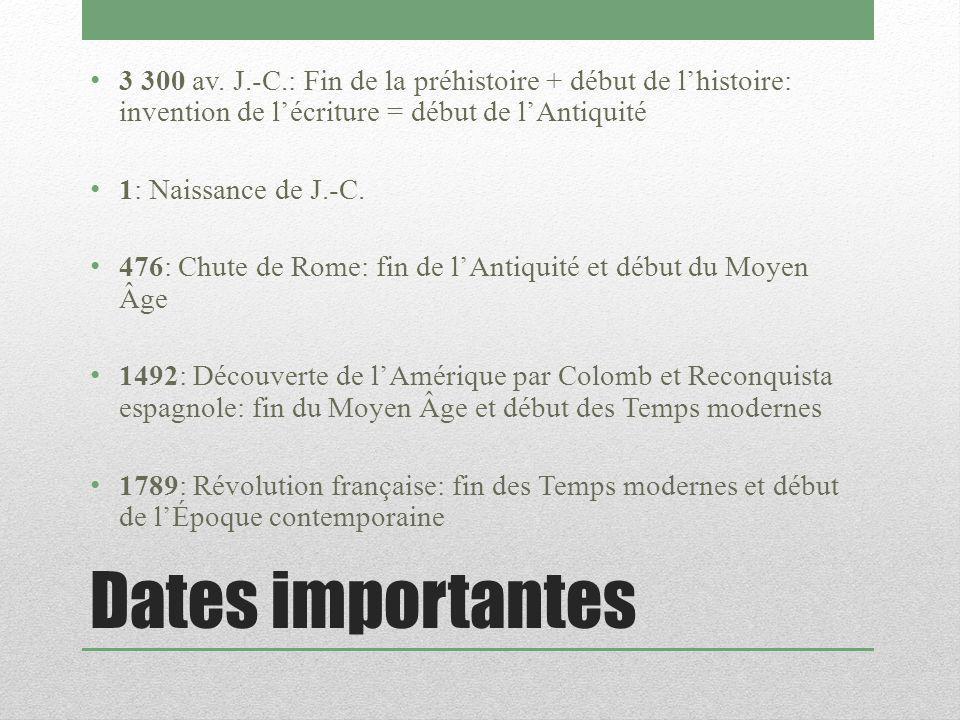 Dates importantes 3 300 av.