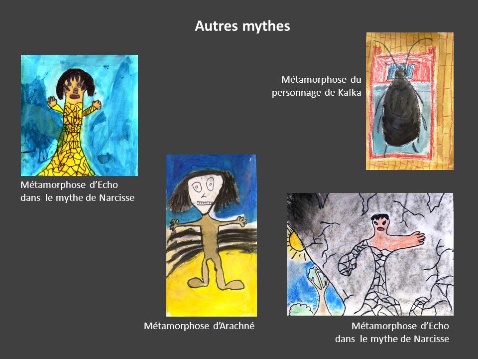 Autres mythes Métamorphose d'Echo dans le mythe de Narcisse Métamorphose du personnage de Kafka Métamorphose d'Arachné
