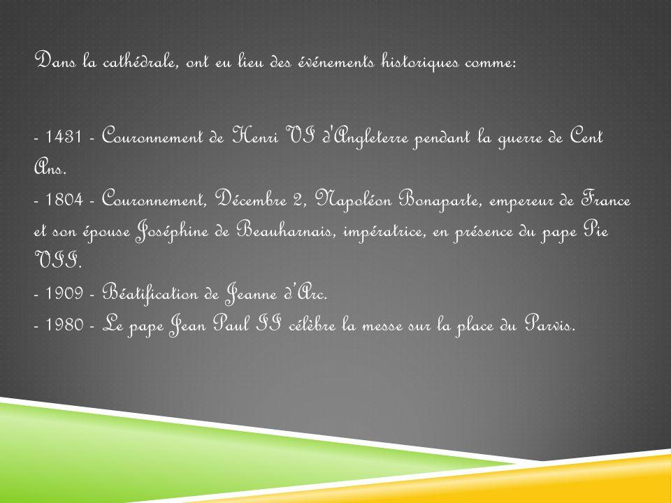 Couronnement de Napoléon Bonaparte Béatification de Jeanne d'Arc Henri VI d Angleterre