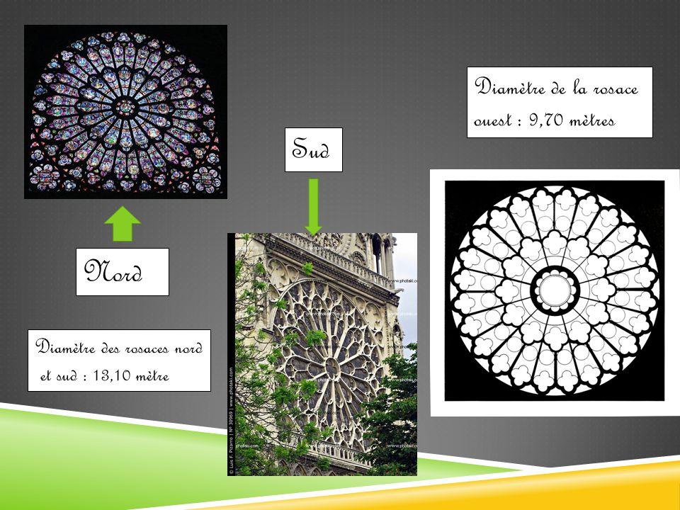 Tour Sud Galerie des Chimères * Rosace ouest * Galerie des Rois * Portail du jugement dernier * Portail de la Vierge * Portail Sainte-Anne