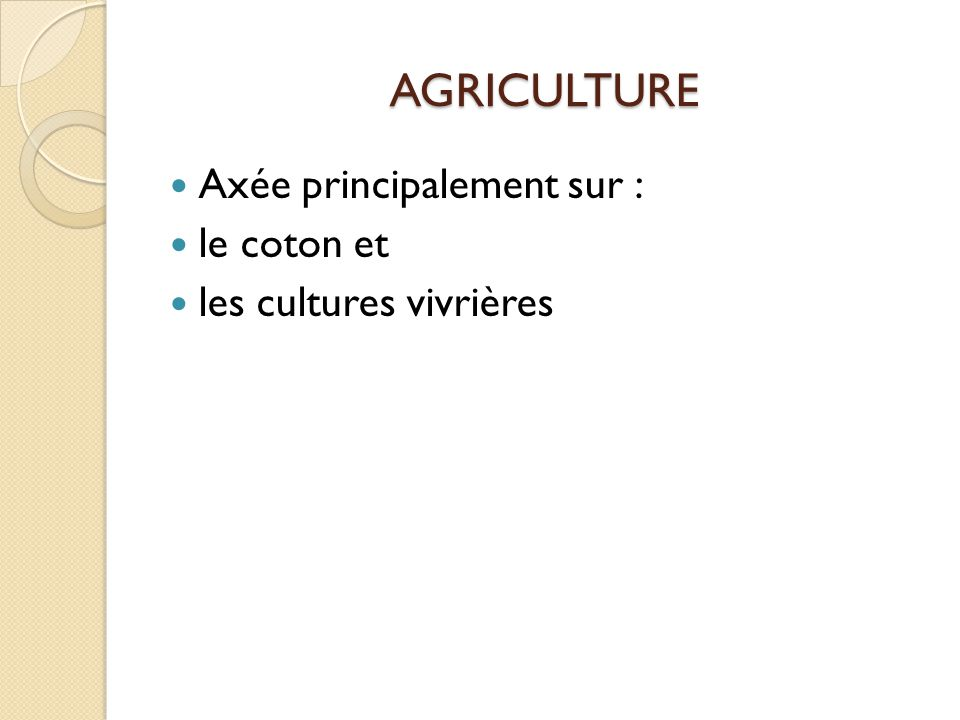 Elevage  Bétail  Viande  Peaux et cuirs  Sous-produits de l'élevage (sang et poudre d'os pour aliment animaux volailles, cornes pour la production de boutons de luxe )