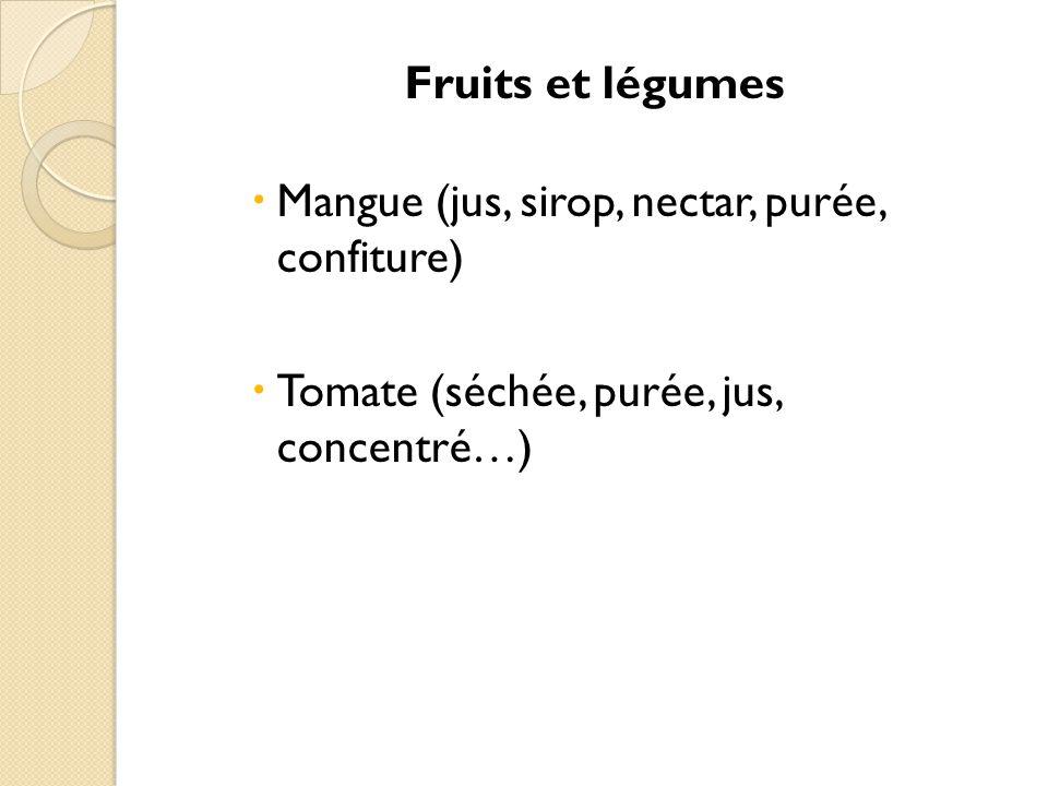 Produits de cueillette  Gomme arabique (boisson, pharmacie…)  Karité (cosmétique, pharmacopée, chocolaterie, savon, beurre…)  Noix de Cajou  Etc.