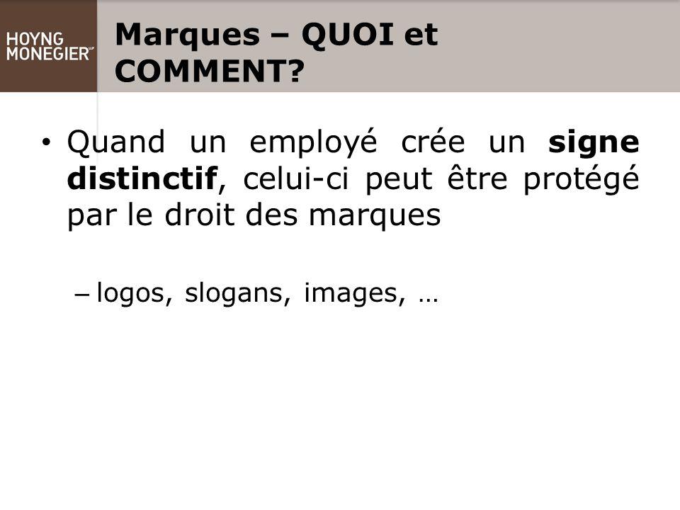 Marques – QUOI et COMMENT.