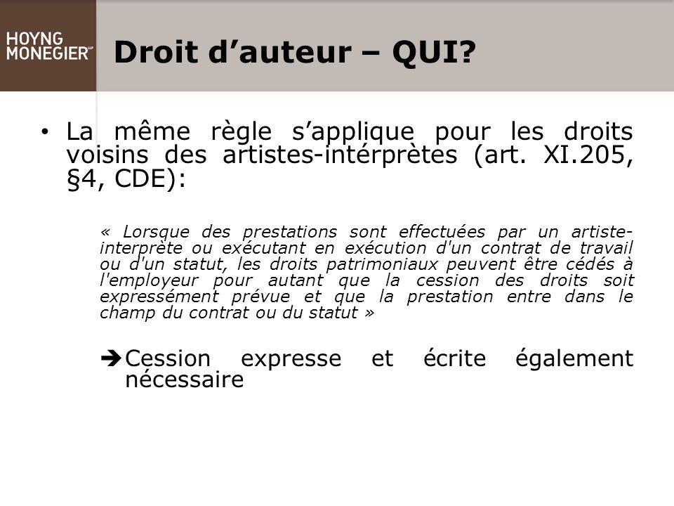 Droit d'auteur – QUI.