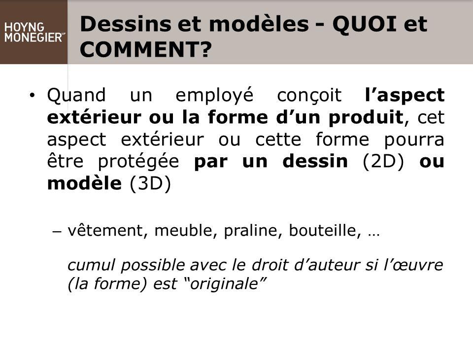 Dessins et modèles - QUOI et COMMENT.