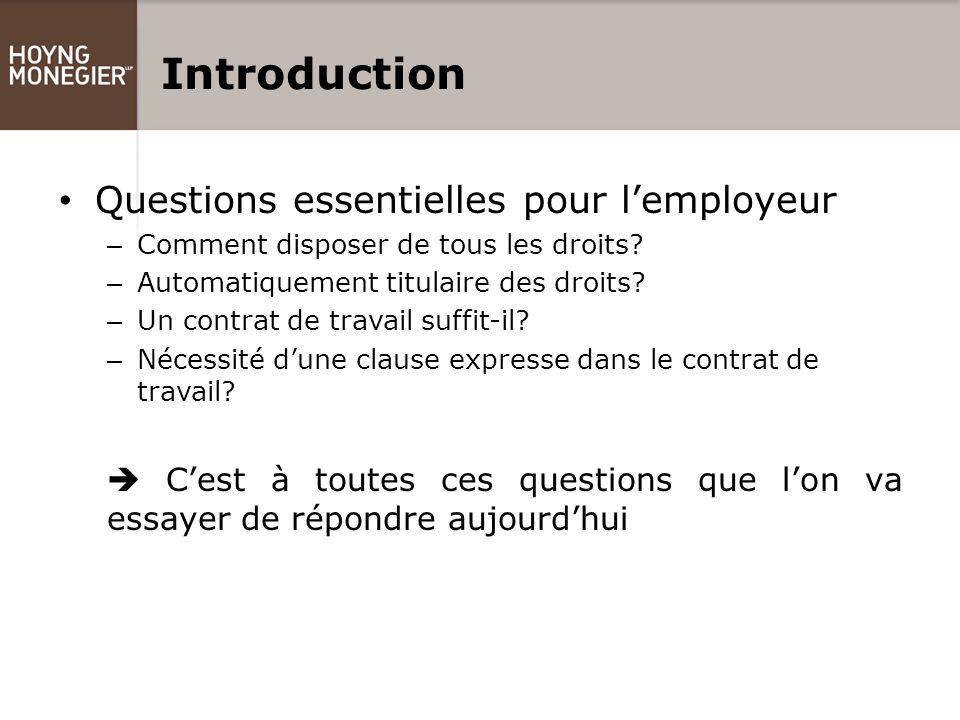 Introduction Questions essentielles pour l'employeur – Comment disposer de tous les droits.
