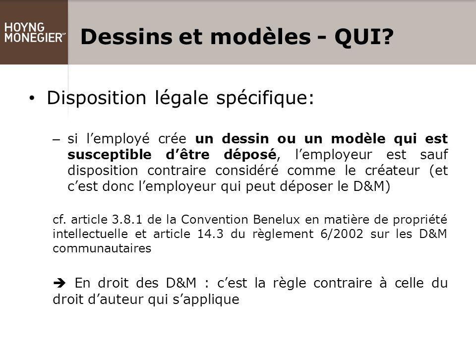 Dessins et modèles - QUI.