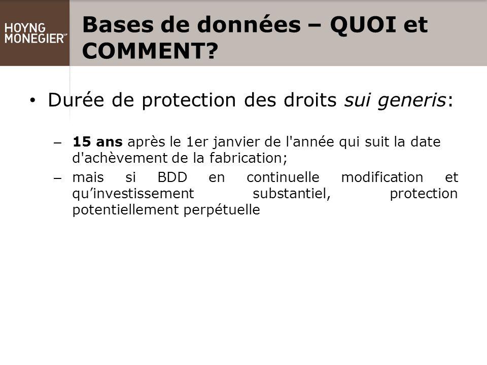 Bases de données – QUOI et COMMENT.