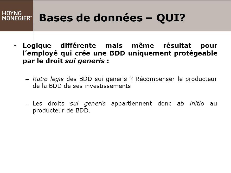 Bases de données – QUI.