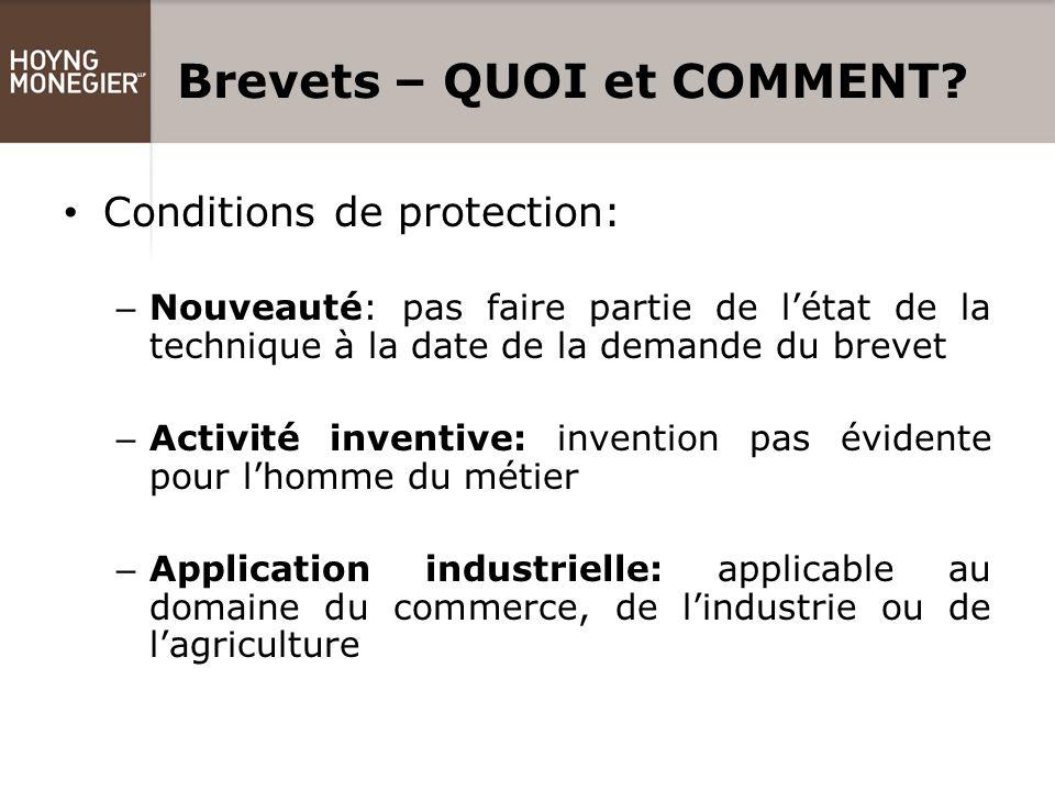 Brevets – QUOI et COMMENT.Le droit au brevet appartient à l'inventeur ou à son ayant cause (art.