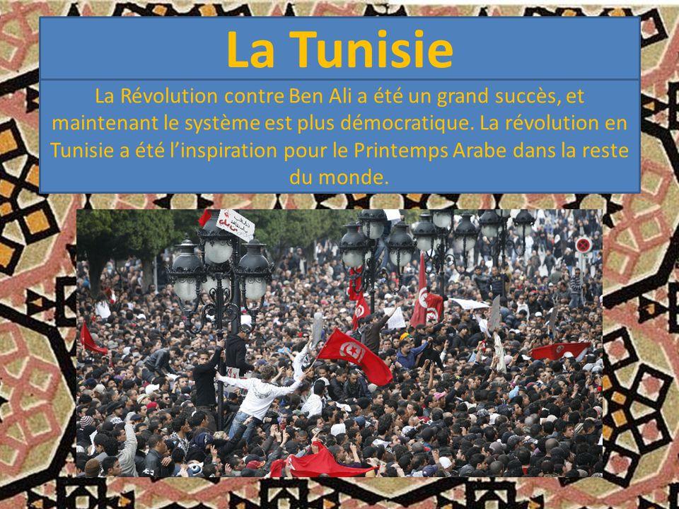 La Tunisie La Révolution contre Ben Ali a été un grand succès, et maintenant le système est plus démocratique.